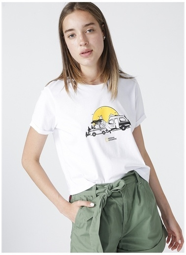 National Geographic National Geographic T-Shirt Beyaz